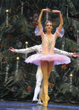 The prince and Clara very happy-In the Christmas Tree-Tableau 3-The Ballet  Nutcracker Stock Images