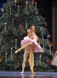 The prince and Clara very happy-In the Christmas Tree-Tableau 3-The Ballet  Nutcracker Royalty Free Stock Photos
