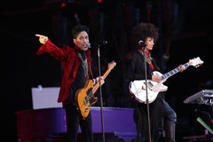 PRINCE IN CONCERT Photos libres de droits
