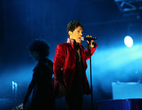 PRINCE IN CONCERT Royalty Free Stock Photography