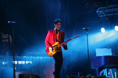 PRINCE IN CONCERT. The rock/ pop/ funk musician Prince in concert at the annual Sziget Festival in Budapest, Hungary, on Tuesday, August 9, 2011 Royalty Free Stock Image