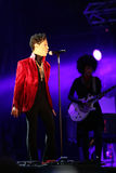 PRINCE IN CONCERT. The rock/ pop/ funk musician Prince in concert at the annual Sziget Festival in Budapest, Hungary, on Tuesday, August 9, 2011 Stock Photo