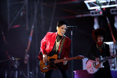 PRINCE IN CONCERT. The rock/ pop/ funk musician Prince in concert at the annual Sziget Festival in Budapest, Hungary, on Tuesday, August 9, 2011 Royalty Free Stock Photos