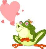 Prince de grenouille attendant pour être embrassé Image libre de droits