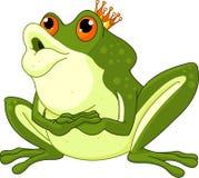 Prince de grenouille attendant pour être embrassé