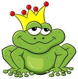Prince de grenouille attendant pour être embrassé Photos libres de droits