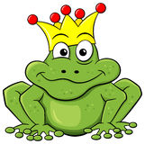 Prince de grenouille attendant pour être embrassé Image stock