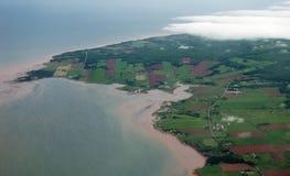 Prince Edward Island Aerial View Image libre de droits