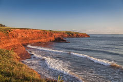 Prince Edward Island Cliffs Stock Photo