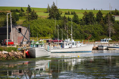 Prince Edward Island Fishing Boats Stock Photography
