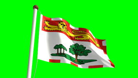 Prince Edward Island flag stock video