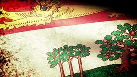 Prince Edward Island Flag Waving, grunge look. Prince Edward Island Flag Waving grunge look, video footage stock footage