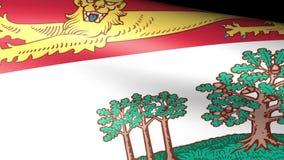 Prince Edward Island Flag Waving. Video footage stock video footage