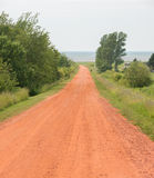 Prince Edward Island Gravel Road Royalty Free Stock Images