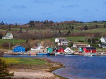 Prince Edward Island hamnfiske Arkivfoton