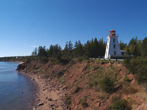 Prince Edward Island Lighthouse. Red and white lighthouse on Prince Edward Island, Canada Stock Photos