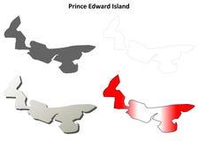 Prince Edward Island blank outline map set Royalty Free Stock Photo