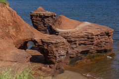 Prince Edward Island Rock Formations Stock Photos