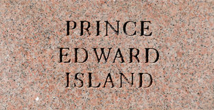 Prince Edward Island sign Royalty Free Stock Photography
