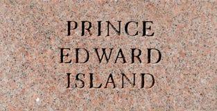 Prince Edward Island sign Royalty Free Stock Photography