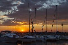 Prince edward island sunset. Sunset over a marina on the island of Prince Edward Island Stock Photography