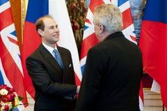 Prince Edward and Milos Zeman Royalty Free Stock Image