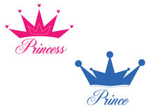 Prince et princesse illustration libre de droits