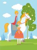 Prince et princesse féeriques Photo libre de droits