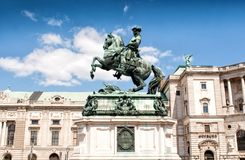 Prince Eugene's monument in Heldenplatz, Vienna Royalty Free Stock Images