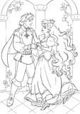 Prince and fairy tale beauty heroine Royalty Free Stock Image