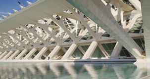 Prince felipe museum of science day light city of art 4k valencia spain stock video footage