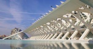Prince felipe museum of science day light panorama 4k valencia spain stock footage
