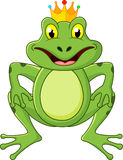 Prince frog cartoon Stock Photos