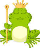 Prince frog cartoon Royalty Free Stock Image