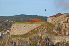 Prince George's bastion. A half-bastion which first went under the name of Prince Jörgens bastion. Here is today bakery and brewery Stock Photography