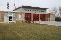 Prince George`s County Fire Department,Northview station,,Bowie, Maryland. The Prince George`s County Fire Department - Northview station in Bowie, Maryland stock photos