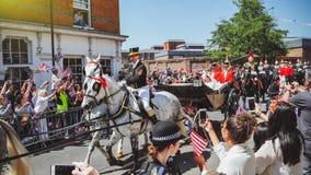 Prince Harry, duc du Sussex et Meghan, duchesse de congé du Sussex images libres de droits