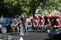 Prince Harry. Harry giving a speech to launch the start of his Invictus games, for injured service personel Royalty Free Stock Image