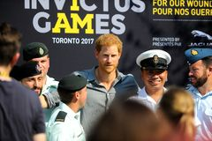 Prince Harry during Invictus Games Stock Photo