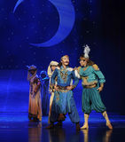 The prince and his partner beard-Hui ballet moon over Helan Stock Photos
