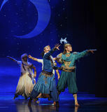 The prince and his partner beard-Hui ballet moon over Helan Royalty Free Stock Photo