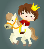 Prince and horse. A prince and his pet horse Stock Images