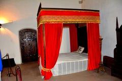Prince Iancu bedroomn in Hunedoara Castle, called Corvin Castle in Transilvania Stock Image