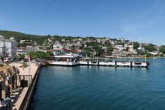 Prince Island Burgazada de Beautfiful en mer de Marmara, près d'Istanbul, la Turquie photos stock