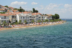 Prince Islands Istanbul,Turkey - Kinaliada - summer beach Royalty Free Stock Images