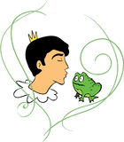 Prince kisses frog Royalty Free Stock Photography