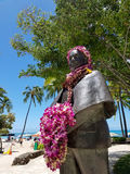 Prince Kuhio Statue covered in Lei& x27;s Royalty Free Stock Photography