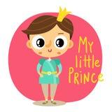 Prince, little boy, cartoon character Stock Photography