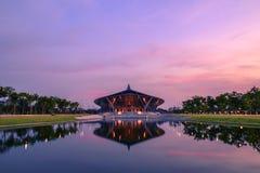 Prince Mahidol Hall. Shoot from lake side royalty free stock image