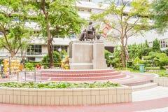 Prince Mahidol Memorial statue at the center of Siriraj hospital in Bangkok Stock Image
